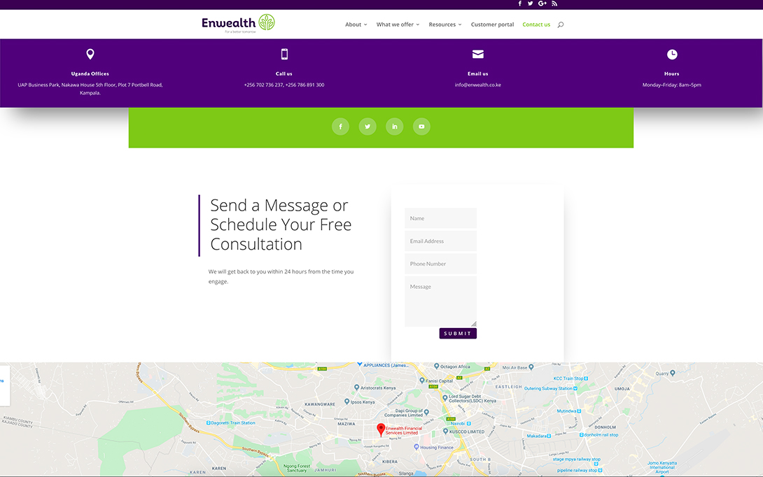Enwealth Contact Form